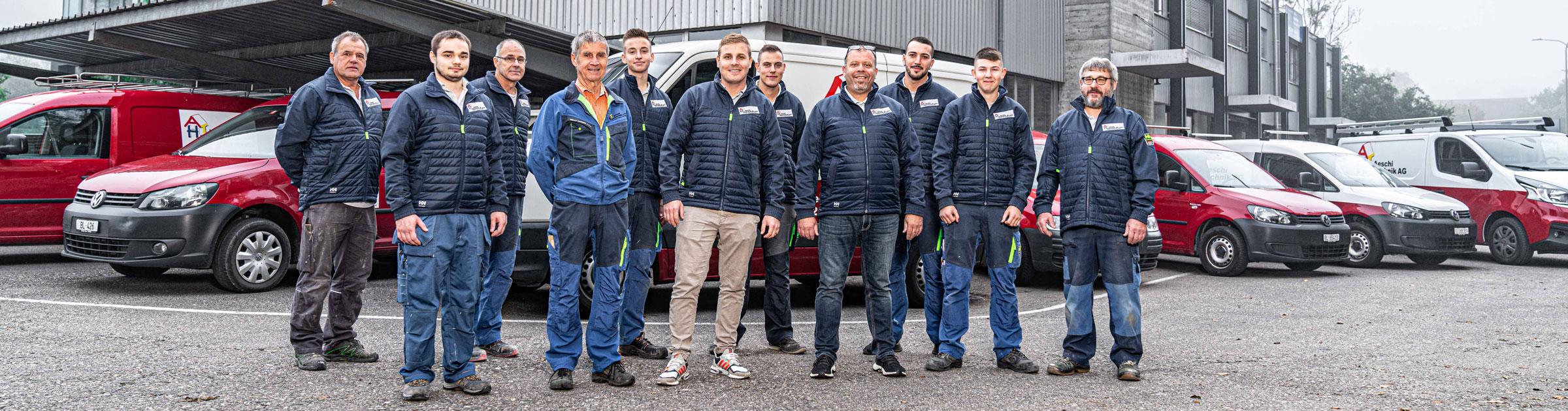 Aeschi Haustechnik AG Laufen, Team